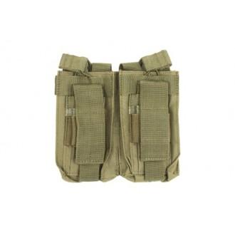 NcSTAR MOLLE Double Rifle Pistol Magazine Pouches - OD