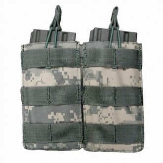 Condor Outdoor Tactical MOLLE Open-Top Double M4 Magazine Pouch - ACU