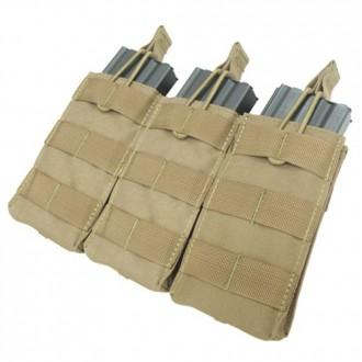 Condor Outdoor Tactical MOLLE Open-Top Triple M4 Magazine Pouch - TAN