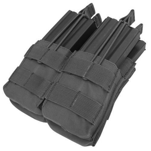 Condor Outdoor MOLLE Open-Top Double Stacker M4 Magazine Pouch - BLACK