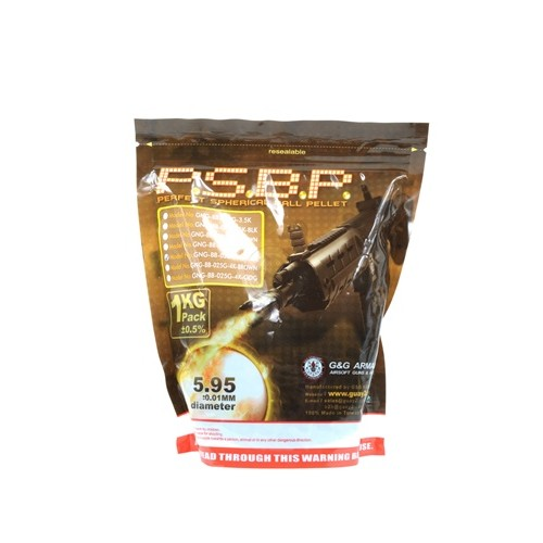 0.25g G&G P.S.B.P. Seamless 6mm Airsoft BBs - 4000rd Bag - BLACK