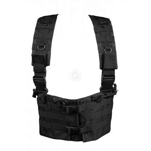 NcStar MOLLE Modular Chest Rig w/ Integrated Hydration Pouch - BLACK