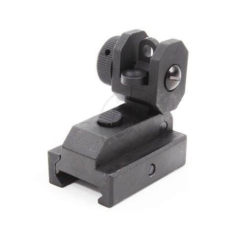 SRC Airsoft Full Metal Flip-Up M4/ M16 CQB Rear Iron Sight