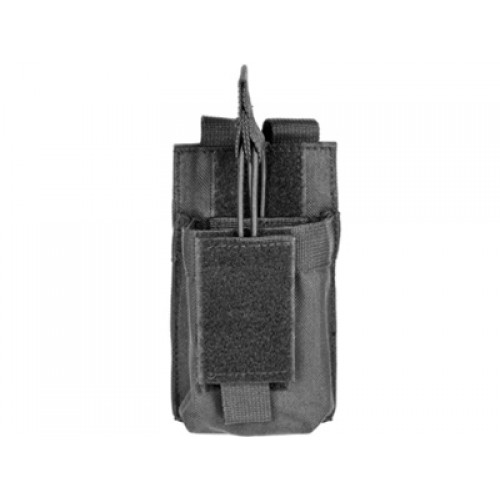 VISM MOLLE M4/M16 Single Rifle Mag Pouch - Black