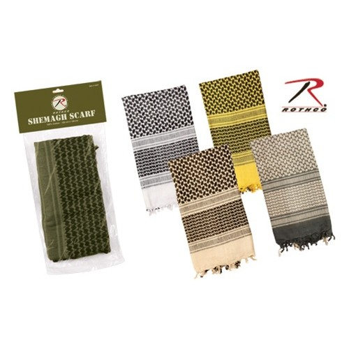 Rothco Multi-Purpose Lightweight Shemagh Scarf - DESERT SAND (YELLOW)
