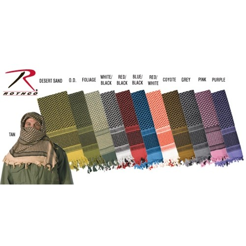 Rothco Tactical Multi-Purpose Shemagh Scarf - BLUE & BLACK