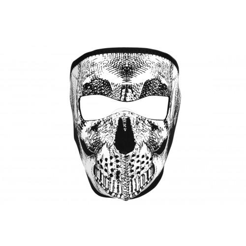 ZAN Headgear Airsoft Neoprene Skull Full Face Mask - BLACK & White