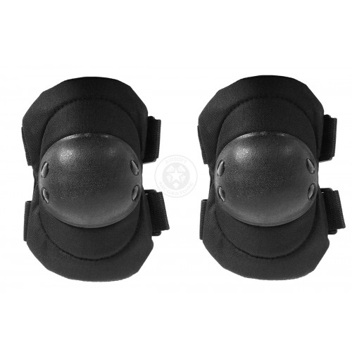 G-Force Outdoor Tactical Elbow Pads w/ Nonslip Rubber Cap - BLACK