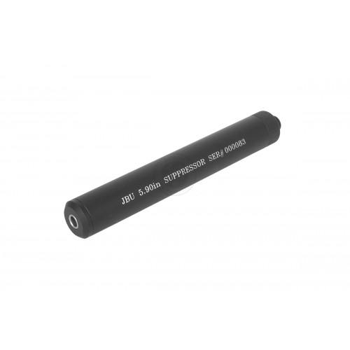 JBU Full Metal Airsoft Pistol 6.03mm Mock Suppressor / FPS Increaser